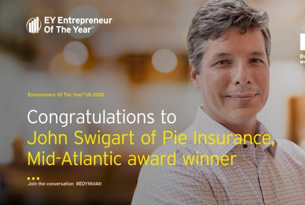 Pie's CEO and Co-founder named 2020 Mid-Atlantic Entrepreneur of the Year